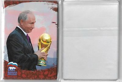 Id Plastic Card Holder Vladimir Putin United Russia With The World Cup Trophy