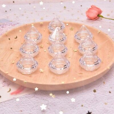 10Pcs/Set 5g Cosmetic Empty Jar Pot Diamond Cream Box Face Cream Container BDAU