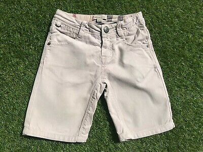 BOYS Beige AUTHENTIC BURBERRY Jeans SHORTS (age5) *NICE COND*