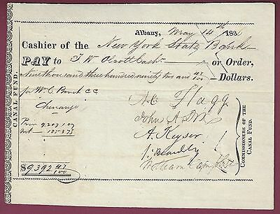 John A. Dix, Union General, NY Governor, Signed Check, 1833, COA, UACC RD 036