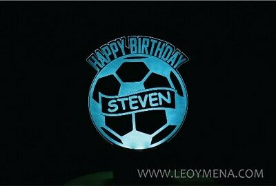 Football Cake Topper lighted LED Personalized