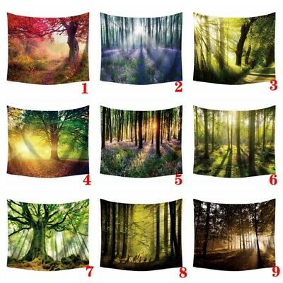 UK DIY 3D Natural Forest Landscape Fairy Wall Hanging Tapestry Home Room Decor