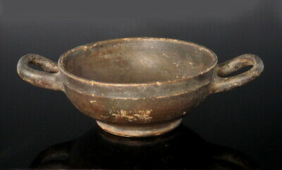 Greek Terracotta Attic Stemless Kylix (M544)