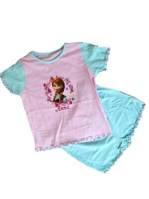 Girls Ex-Disney ANNA-FROZEN Soft Touch SHORT Pyjama Set  Ages  2-3  4-5  years