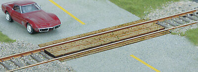 Walthers SceneMaster HO Scale Wood Grade Crossing - Laser-Cut Wood Kit - Single