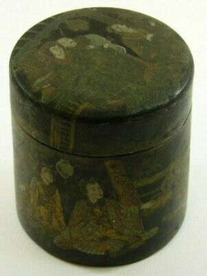 Antique MEIJI Period - Japanese cylinder Lacquer Box