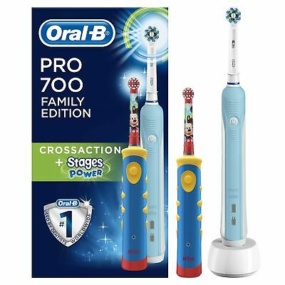 BRAUN ORAL B FAMILY EDITION TOPOLINO CON PRO 700+ STAGES POWER (yE+)
