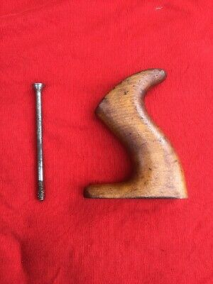 Vintage Beech Tote & Steel Rod That Fits  A Stanley Bailey Transitional Plane