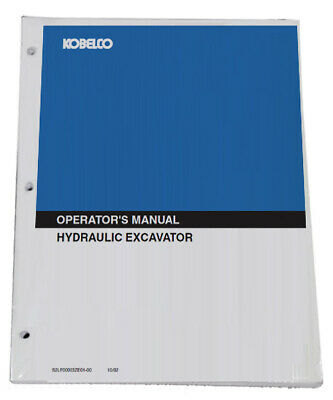 KOBELCO SK55SRX Tier 4 Excavator Owners Manual Operators Maintenance Book