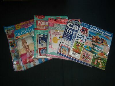 2016-2018 Craft & Crochet Kits Magazines Lot Of 5 - Includes Extras- O 2293