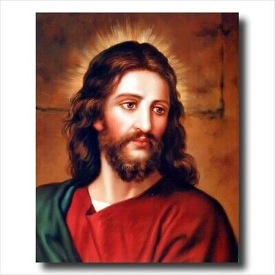 Face Of Jesus Christ Religious Wall Picture Art Print