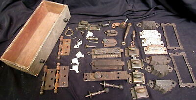 Huge Mixed Antique  Vintage Lot Of Door Locks -Slider Locks-Hardware Salvage