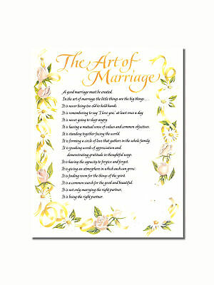 The Art of Marriage List of Rules Wall Picture 8x10 Art Print