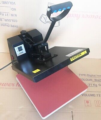 Digital Clamp shell T-Shirt Sublimation Heat Press Transfer  Machine 15x15 DGREF