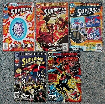 REIGN OF SUPERMAN 4 comics all together VF to VF+ Covers are