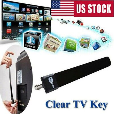 UNEW Clear TV Key 1080p HDTV 100+ FREE HD TV Digital Indoor Antenna Ditch Cables