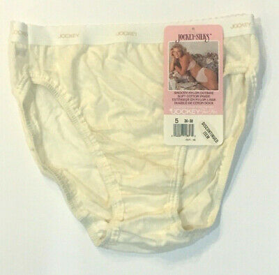NWT Size 5 Vtg Jockey Silks French Cut Bikini Panties Nylon/Cotton High Leg