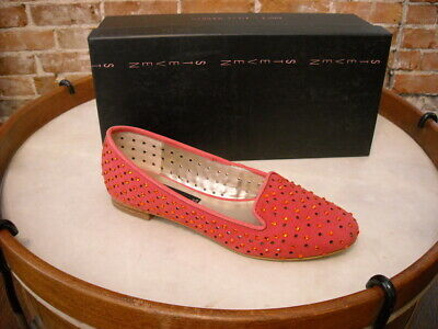 $139 New Steve Madden Karry Rhinestone Perforated Fuchsia Suede  Shoes sz 10M
