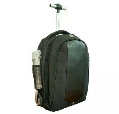 Rolling Laptop Backpack Carry On Backpack with Wheels 18 inch NEW Black