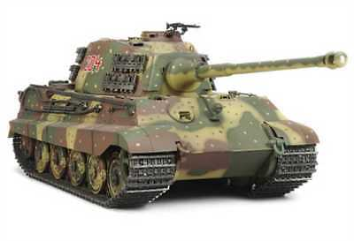 Tamiya 1:16 Carro Armato Radiocomandato Re Tigre Full Option Kit di Costruzione