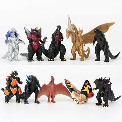 Godzilla 2 King of the Monster Shin Kaiju Gigan Ghidorah 10 pcs Toy Figures Set