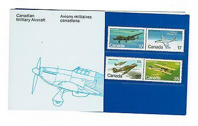 1980 Canada Stamps & Pocket Thematic Collection #  16  Cnd Military Aircraft