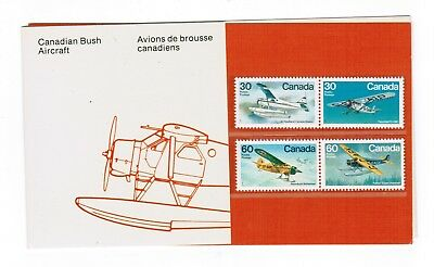 1982 THEMATIC COLLECTION # 20 CANADA STAMPS # 969 t o 972   BUSH  AIRCRAFT
