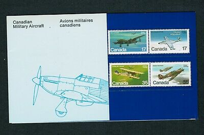 1980 # 16 Thematic Collection Canadian Military Aircraft Canada Stamps 873 876 F