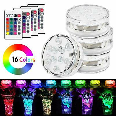 1/4X Remote Control Color Colored LED Light Boundery Style Waterproof EFX Accent