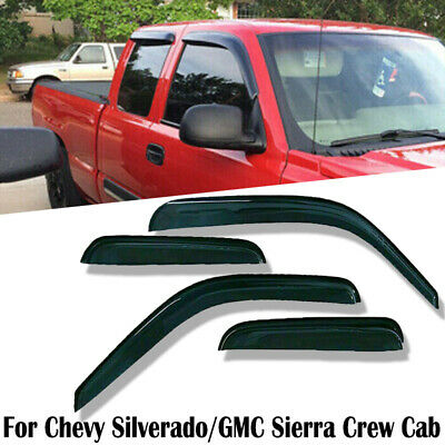 for Chevy Silverado/GMC Sierra Extended Cab 96-06 Window Visor Shade Visors Wind