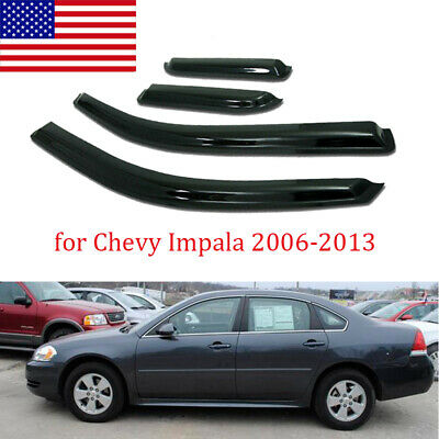 For 2006-2013 Chevy Impala Smoke Window Visor Rain Guard Vent Shade Deflector