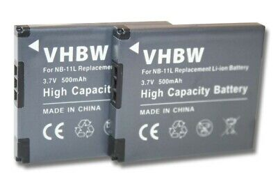 2x BATTERY for Canon Digital Ixus 180 / 285 HS