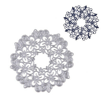 Scrapbooking DIY Craft Stencil Hollow Flower Metal Cutting Dies Embossing Decor