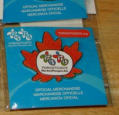 Toronto 2015 Pan American Olympic Games Parapan Maple Leaf Off. Pin New Sealed