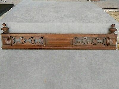 "Antique french Carved wood  FRONTON PEDIMENT Panel 34"" L"