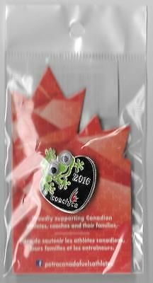 Rio 2016 Olympic Paralympic Pin Canada Frog New Sealed