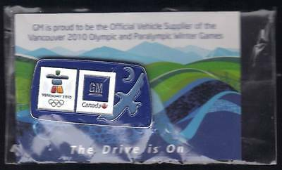 Vancouver 2010 Gm Canada Olympic Games Official Sealed Sponsor Pin