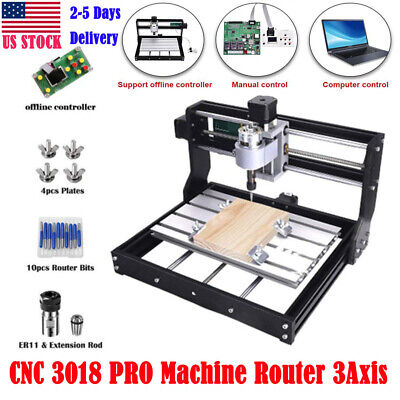 CNC 3018 PRO Machine Router 3Axis Engraving PCB Wood DIY Milling Engraver U7S3