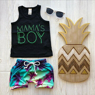 Summer Toddler Kids Baby Boy Clothes T-shirt Top Shirt Shorts Pants Outfits Sets