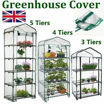 3 4 5 Tier Mini Greenhouse Walk In Grow Bag Green House PVC Cover Plastic Garden