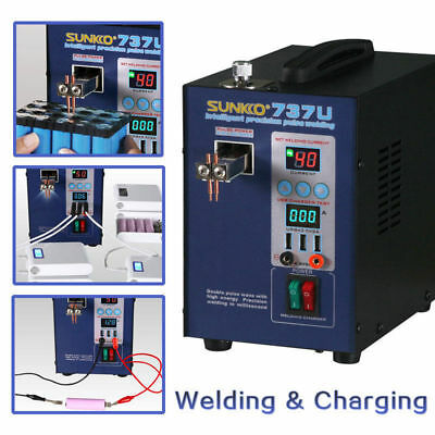 SUNKKO 737U 18650 Battery 220V Digital Display 2800W Testing Charge Spot Welder