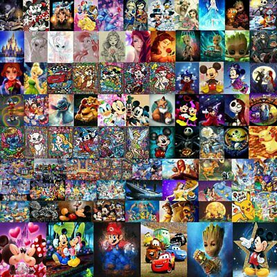 Disney Cartoon DIY 5D Diamond Painting Embroidery Cross Craft Stitch Art Kit jm