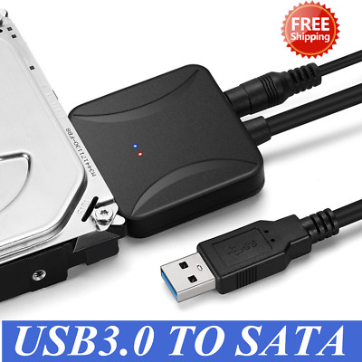 USB 3.0 To SATA 2.5/3.5 Inch Hard Disk Drive SSD Adapter Connector Cable Lead UK