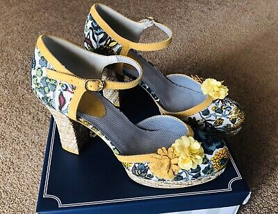 bfc37c77 ... Camilla navy patent red floral high heel mary jane shoes sizes 3-8.