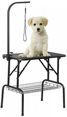 Foldable Pet Dog Cat Grooming Table  Adjustable Height W  Arm, Noose & Mesh