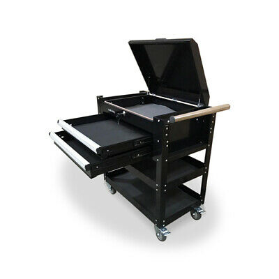 469 Us Pro Tools Mobile Steel Tool Cart Trolley Workstaion Black Heavy Duty