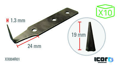 ICOR Cold Knife Blades 19 mm (x10)