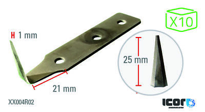 ICOR Carbon Blades for Cold Knives 25 mm (x10)