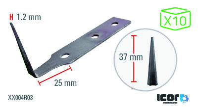 ICOR Carbon Blades for Cold Knife 37 mm (x10)
