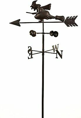 Metal Witch Wind Weathervane Weather Garden Ornament